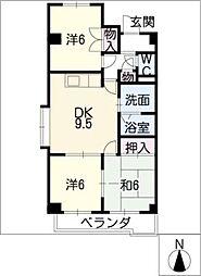 アピカル千王[4階]の間取り