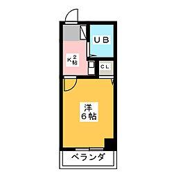 八木兵小田井ハウス[5階]の間取り