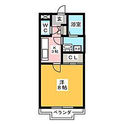 セレーノ西尾 A棟[1階]の間取り