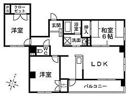 ル・エスト大濠[5階]の間取り