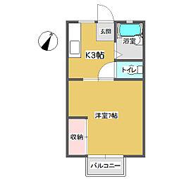 サンシティロッキー B[2階]の間取り