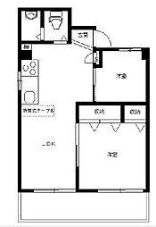 東京都武蔵野市境南町3丁目の賃貸マンションの間取り
