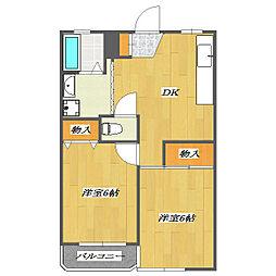 Domir-Fukumoto 〜ドミール福本〜[2階]の間取り