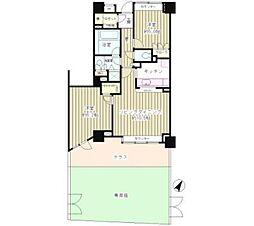 上野毛パーク・ホームズ アダージオ 1階[105号室]の間取り