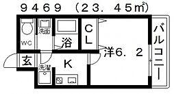 ARATA松原天美東(アラタ松原天美東)[202号室号室]の間取り