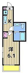 仮称)足立区千住東1丁目共同住宅[201号室]の間取り