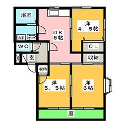マクシーズ大城台 B棟[1階]の間取り