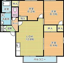 コモンシティ志井II E棟[201号室]の間取り