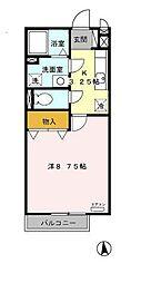 静岡県富士市新橋町の賃貸アパートの間取り