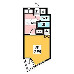 タカオキAコーポ[1階]の間取り