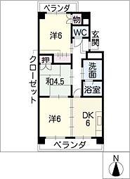 サンシャインロードM[3階]の間取り