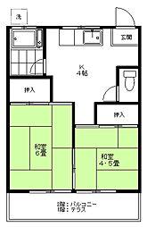 長谷川コーポ[1階]の間取り
