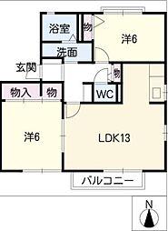 フォレストパークIII[1階]の間取り
