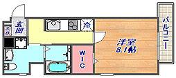 アレンダール神戸本山[106号室]の間取り