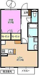 長野県長野市篠ノ井布施高田の賃貸アパートの間取り