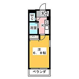 ビューフローラ[3階]の間取り