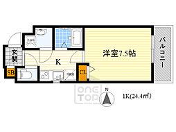 Ritz square Loui chatele 4階1Kの間取り