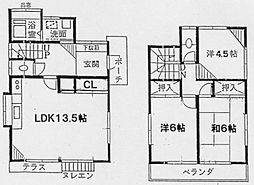 [一戸建] 神奈川県横浜市金沢区富岡西1丁目 の賃貸【/】の間取り
