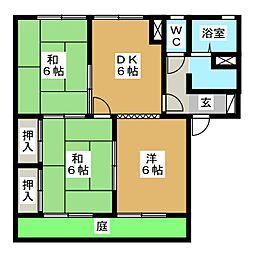 セジュールNARUSE A棟[1階]の間取り