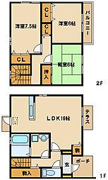 [テラスハウス] 兵庫県神戸市西区水谷2丁目 の賃貸【/】の間取り