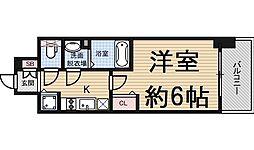 プレサンス野田阪神駅前ザ・プレミアム[10階]の間取り
