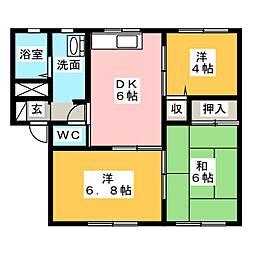 セントラルアイラ PartII B棟[1階]の間取り