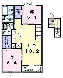 埼玉県ふじみ野市滝1丁目の賃貸マンションの間取り