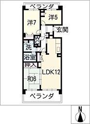 グランドメゾン千種604号室[6階]の間取り