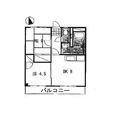 兵庫県姫路市広畑区西夢前台5丁目の賃貸アパートの間取り