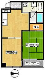 PIA TAIHO[3階]の間取り