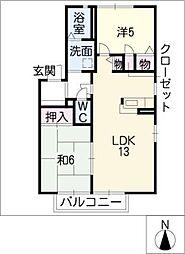ファミイ B棟[1階]の間取り
