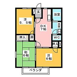 コーポエルムII[2階]の間取り