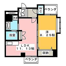 山八第6ビル[2階]の間取り