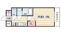 プレサンス京都二条京華 406[4階]の間取り