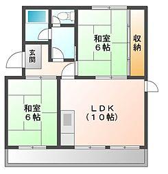 メゾンヤマギワ[2階]の間取り