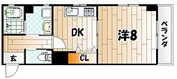 アルファK3[3階]の間取り