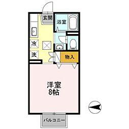 プレミール95[1階]の間取り