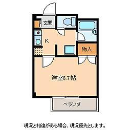 ハイツイズミ[3階]の間取り