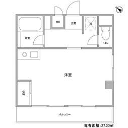 江田パークサイドマンション[305号室]の間取り
