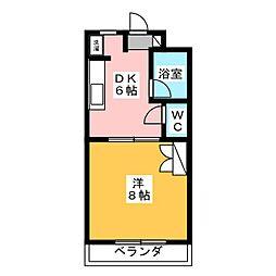 マンションロジュマンI[1階]の間取り