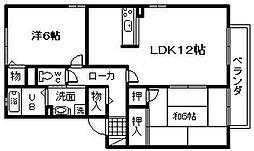 セジュールSAWA[1階]の間取り