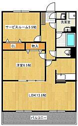 ルプソアール・ドゥー[5階]の間取り