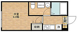 CASAR武蔵新城[103号室]の間取り