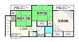 [一戸建] 東京都東久留米市中央町6丁目 の賃貸【東京都 / 東久留米市】の間取り