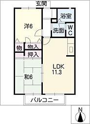 コンフォーム大井A棟[2階]の間取り