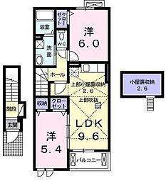 フラン メゾンII[2階号室]の間取り