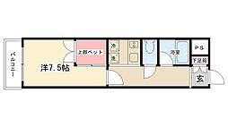 シングルハイツ並木[203号室]の間取り