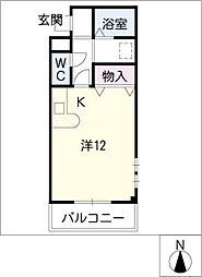 プラシードマンション明成[1階]の間取り