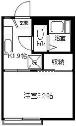 ドミールA・M[102号室]の間取り