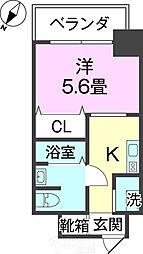 沖縄都市モノレール 美栄橋駅 徒歩13分の賃貸マンション 3階ワンルームの間取り